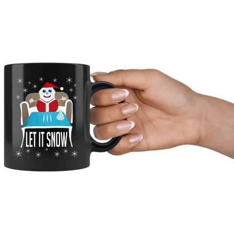 Cocaine Santa Drug Ugly Christmas Let It Snow Parody Coffee Mug