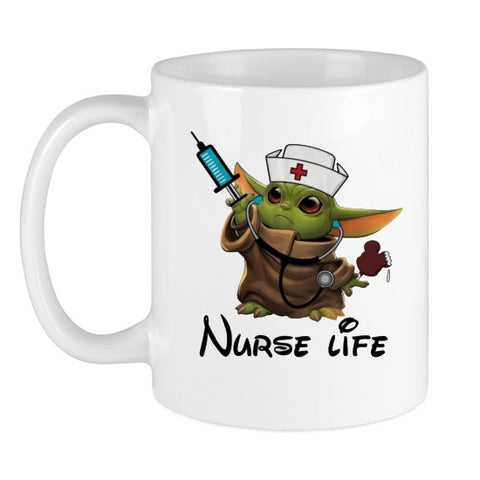 Baby Yoda Nurse Life Coffee Mug For Men Women Nurse Lover