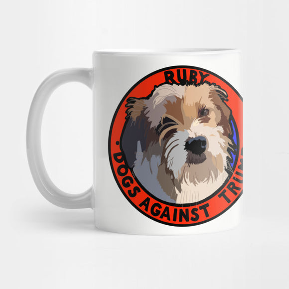 DOGS AGAINST TRUMP - RUBY Mug