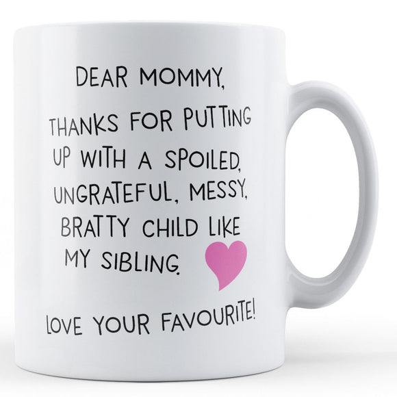 Dear Mommy - Gift for Mom
