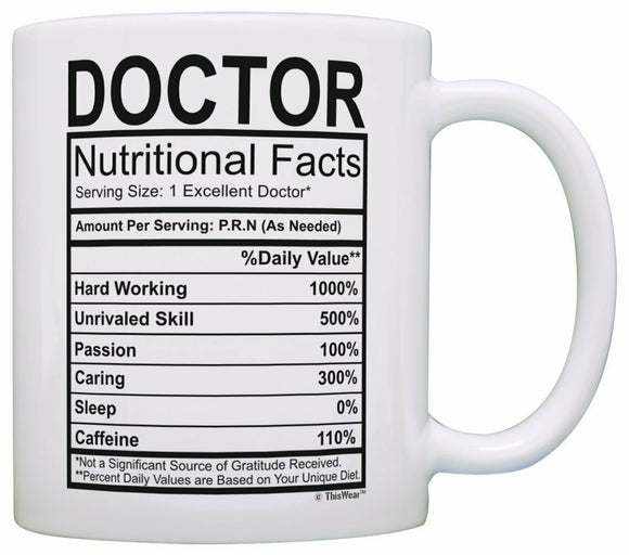 Doctor Nutritional Facts Mug