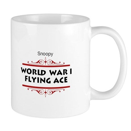 FLYING ACE DODGING BULLETS MUG
