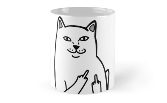 FckU Cat - Lord Nermal Coffee mugs - Eureka Mugs