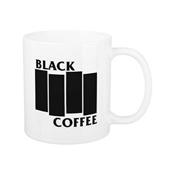 Funny Black Flag Coffee Mugs for Women Office Mug