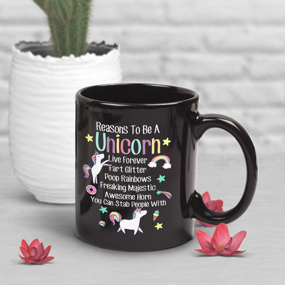 Funny Unicorn Coffee Mug, Unicorn Lover