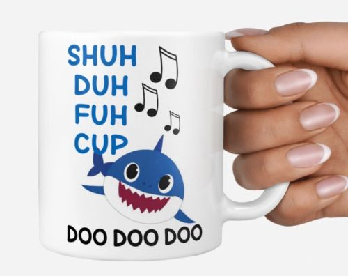 Funny baby daddy shark Coffee mug