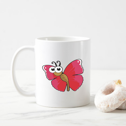 Graphic Design Butterfly Coffee Mug
