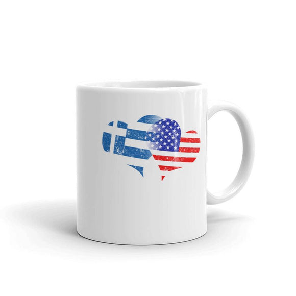 Greek Independence Day Love Greek Flag America Flag Mugs
