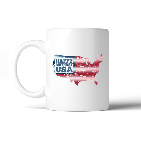 HAPPY BIRTHDAY USA INDEPENDENCE DAY MUG