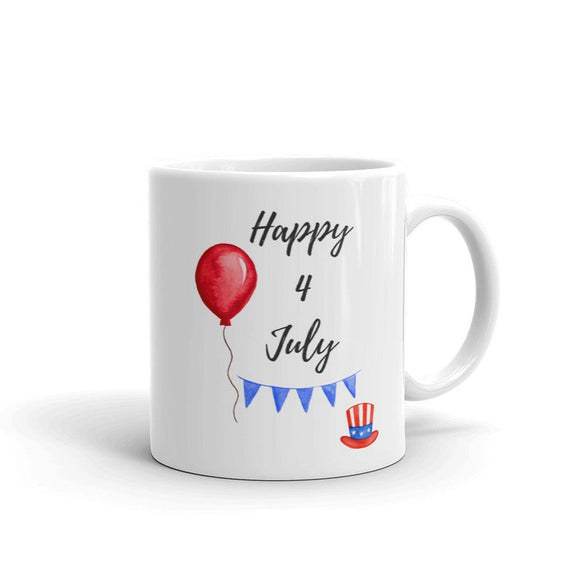 Happy 4 July Mug Independence Day Mug