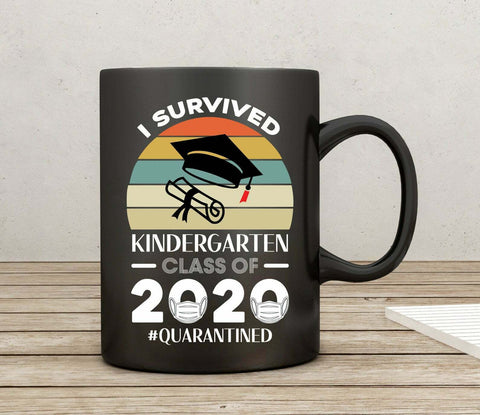 I Survived Kindergarten Class of 2020 Quarantined Mug Graduation Coffee Mug
