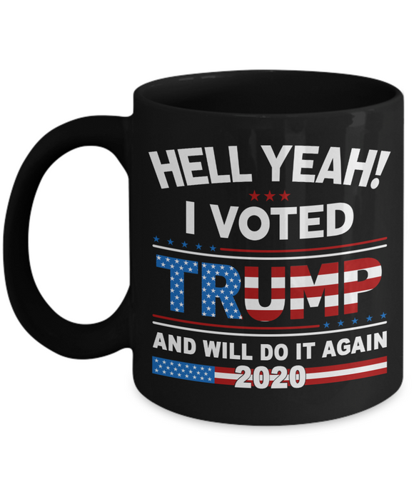 I Voted Trump Flag Coffee Mugs