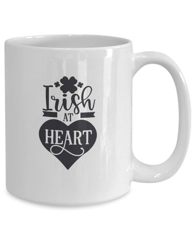 Irish at heart funny novelty coffee mug gift idea st patrick day cup irish celebration