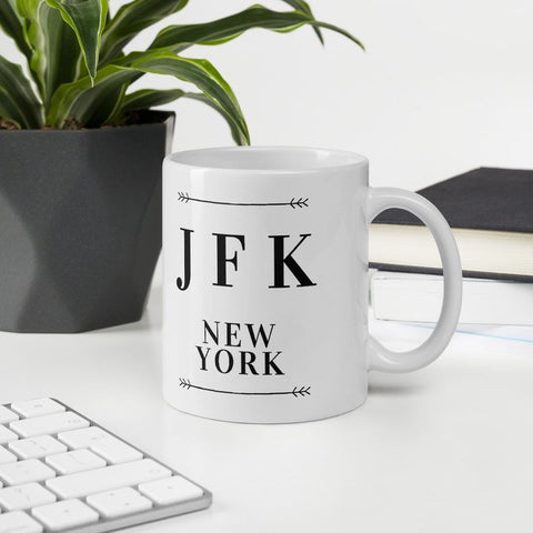 JFK Airport Mug, Travel mug, JFK New York, digital nomad gift