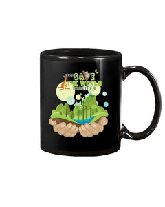 Let's Save The World Together Earth Day Coffee Mug Protect Forest Men Women