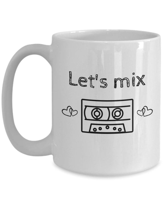 Let's Mix Coffee Mug Gift for Loved One Mix Tape Fans Remember the 80's For Valentine's Day and More