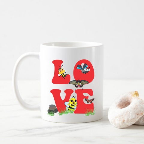 Love Insect Coffee Mug Gift for Lover Insect Coffee Mug