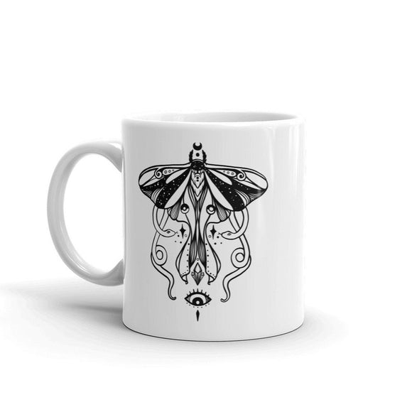 Luna Moth And Snakes Witchy Art Coffee Mug