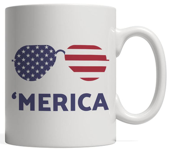 Merica Sunglasses USA American Flag
