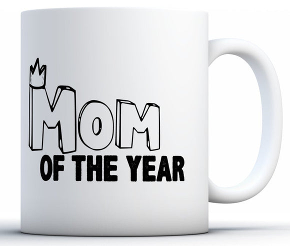 Mom Of The Year Coffee Mug Funny Mom Travel Mug Mother's Day Gifts for Women Coffee Mugs for Mom Mom Of The Year Gifts Birthday Mom Mug