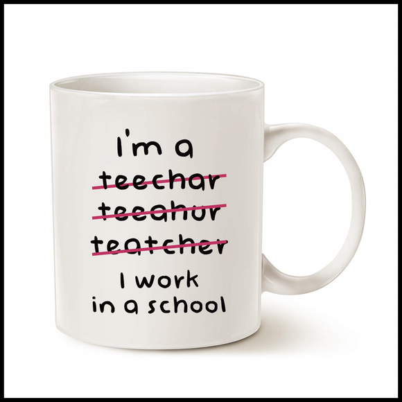 Mothers Day & Fathers Teacher Gifts Funny Coffee Mugs