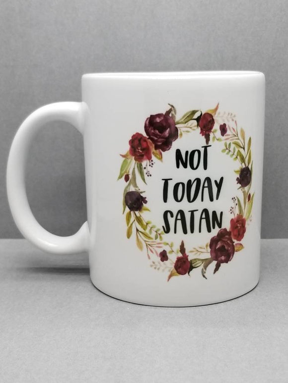 Not Today Satan Sublimated Mug