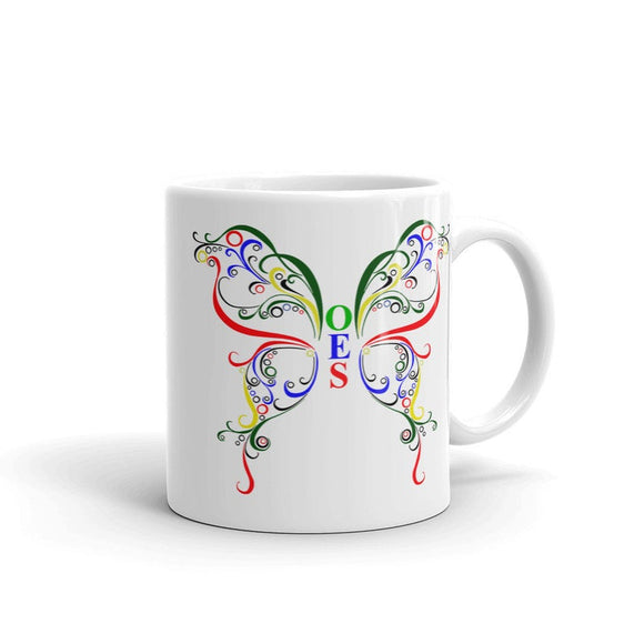 OES (Order of the Eastern Star) butterfly coffee Mug