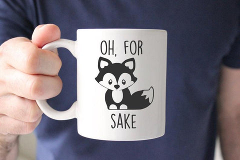Oh For Fox Sake Mug, Zero Fox Given, Funny Fox Coffee Mug, Unique Coffee Mug