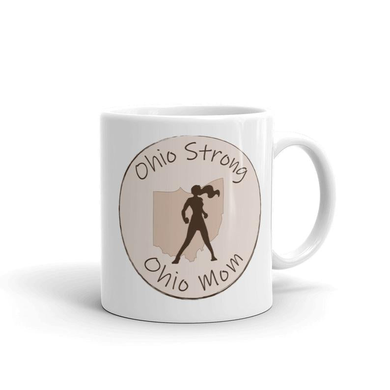 Ohio Mom  Superhero Mom Ceramic Coffee Mug