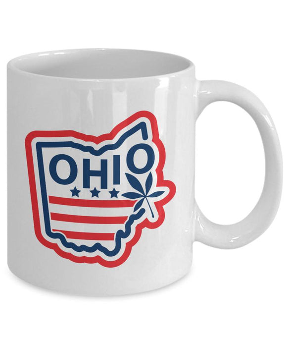 Ohio State Coffee Mug Usa Red White and Blue Independence Day