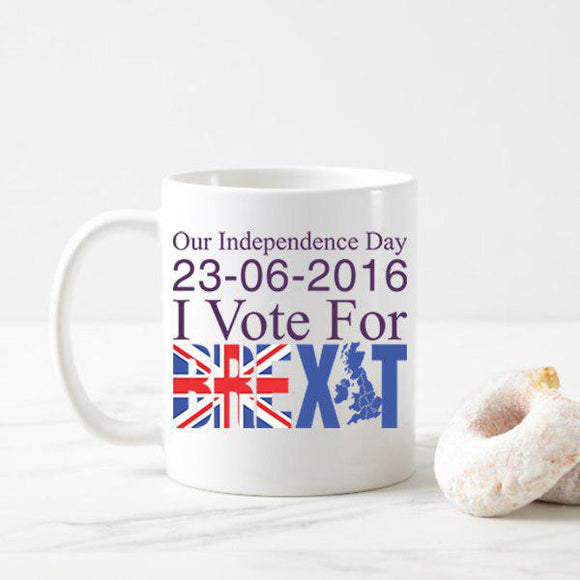 Our Independence Day 23/06/2016 Mug, I Voted Leave Mug