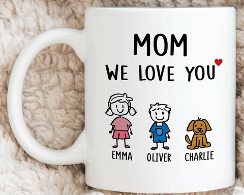 Personalized Mom Mug Mom Gifts Mothers Day Gift From Daughter Son