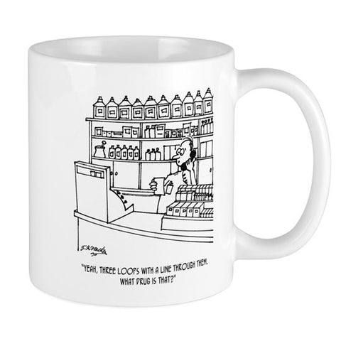 Pharmacist Cartoon Coffee Mug