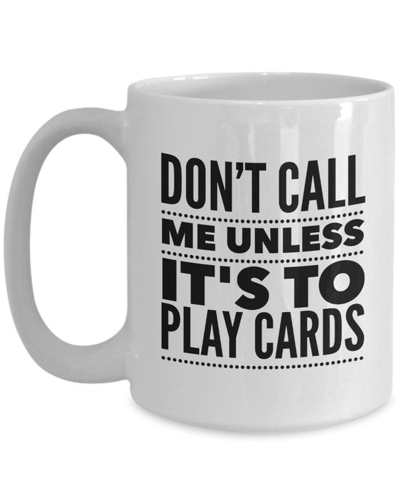 Playing Cards Mug, Coffee Mug 11oz Poker Mug