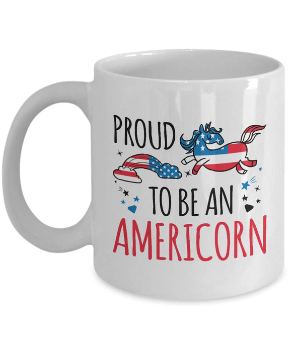 Proud To Be An Americorn Coffee Mug - 4th of July Mug