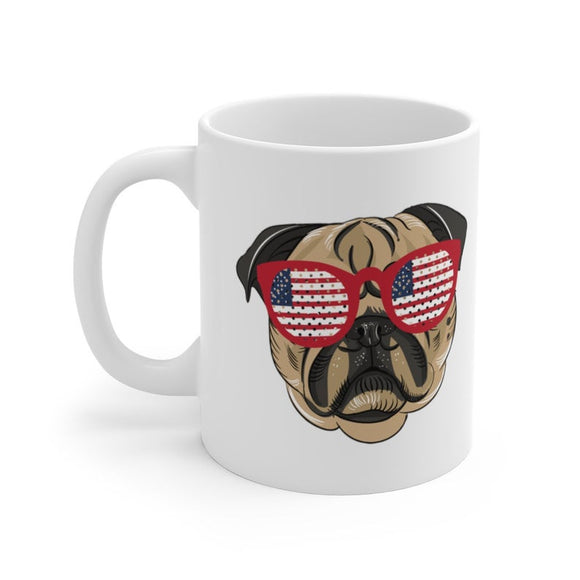 Pug 4th of July Mug