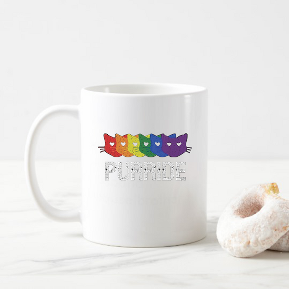 Purride Gay Pride Cat Lover Funny Mugs