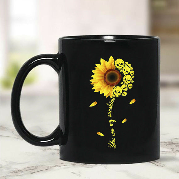 Skull Sunflower You Are My Sunshine Mug