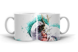 Spirited Away Anime Coffee Mug 11oz. Studio Ghibli Manga Tea Cup Color n616 - Eureka Mugs