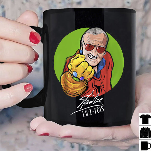 Stan Lee Thanos Signature Avengers 1922 2018 Mug Black Coffee Ceramic 11oz Cup - Eureka Mugs