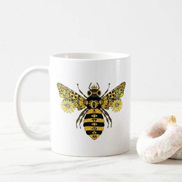 Steampunk Queen Bee Mug- Bee Cup