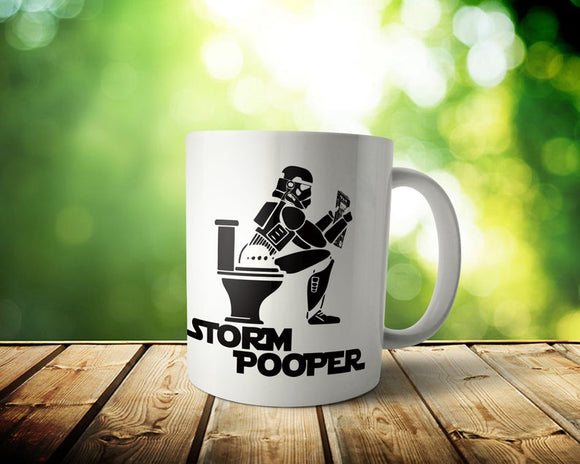 Storm Pooper Mug  Custom Star Wars Gift Storm Trooper Lover Coffee Cup