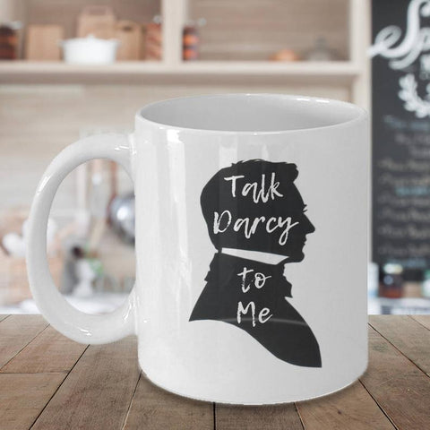 TALK DARCY to ME, Funny Mugs, Bookworm for Her, Jane Austen, Bookish Items, Unique coffee mugs