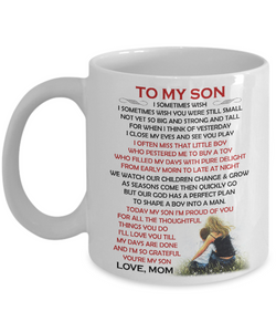 TO MY SON - Eureka Mugs