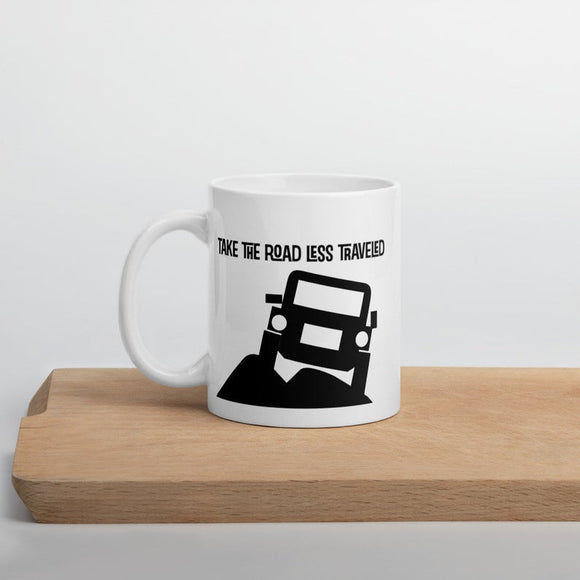 TaKe the Road Less Traveled Ceramic Coffee and Tea Mug