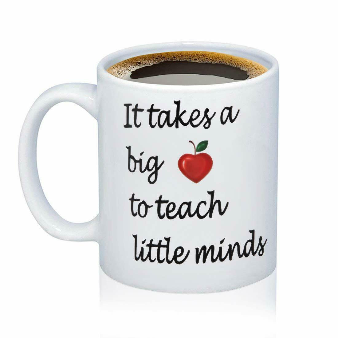 Teacher Appreciation Coffee Tea Drink Mug Ceramic Funny Cute Cup Gift  Valentine