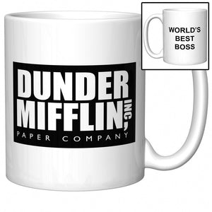 The Office Dunder Mifflin -World's Best Boss - 11 Oz Coffee Mug - Eureka Mugs