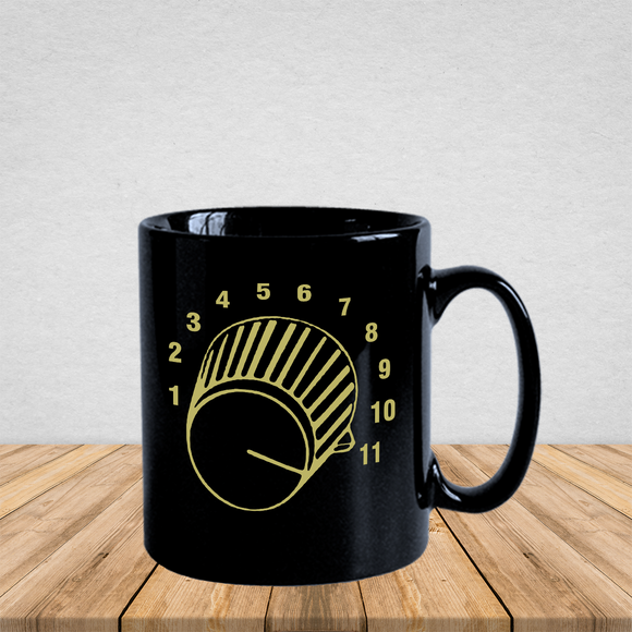 'This One Goes To Eleven' Cool Gold 11 Knob Spinal Tap Mug