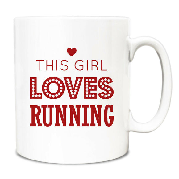 This Girl Loves Running Gift Idea Mug