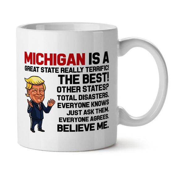 Trump Mug For Michigan, Trump Sayings Mug